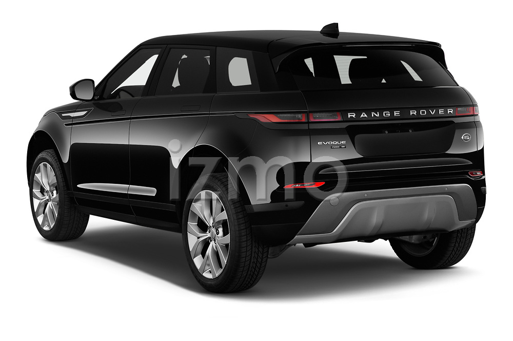 Car pictures of rear three quarter view of 2020 Land Rover Range-Rover-Evoque SE 5 Door SUV Angular Rear