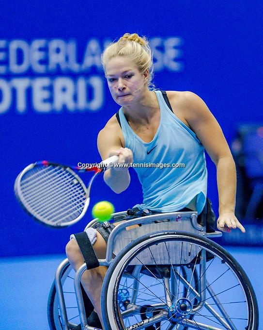 Rotterdam, Netherlands, December 17, 2017, Topsportcentrum, Ned. Loterij NK Tennis, Wheelchair woman's  final: Dide de Groot (NED  <br /> Photo: Tennisimages/Henk Koster