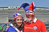 Photo before the match Argentina vs Chile corresponding to the Final of America Cup Centenary 2016, at MetLife Stadium.<br /> <br /> Foto previo al partido Argentina vs Chile cprresponidente a la Final de la Copa America Centenario USA 2016 en el Estadio MetLife , en la foto:Fans de Chile<br /> <br /> <br /> 26/06/2016/MEXSPORT/Isaac Ortiz.