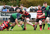 Saturday 3rd October 2020 | Hinch vs Armagh<br /> <br /> Nacho Caldera on the attack for Ballynahinch during their Ulster Senior League clash against Armagh at Ballymacarn Park, Ballynahinch, County Down, Northern Ireland. Photo by John Dickson / Dicksondigital