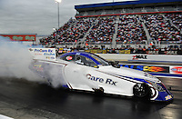 Sept. 16, 2011; Concord, NC, USA: NHRA funny car driver Melanie Troxel during qualifying for the O'Reilly Auto Parts Nationals at zMax Dragway. Mandatory Credit: Mark J. Rebilas-US PRESSWIRE