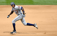10 September 2006: Alfonso Soriano, left fielder for the Washington Nationals, steals his 39th base of the season against the Colorado Rockies. The Rockies defeated the Nationals 13-9 at Coors Field in Denver, Colorado...Mandatory Photo Credit: Ed Wolfstein.