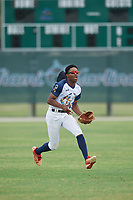 Antonio Gleaton (1) during the WWBA World Championship at the Roger Dean Complex on October 11, 2019 in Jupiter, Florida.  Antonio Gleaton attends Hapeville Charter Career Academy in Atlanta, GA and is committed to The Citadel.  (Mike Janes/Four Seam Images)