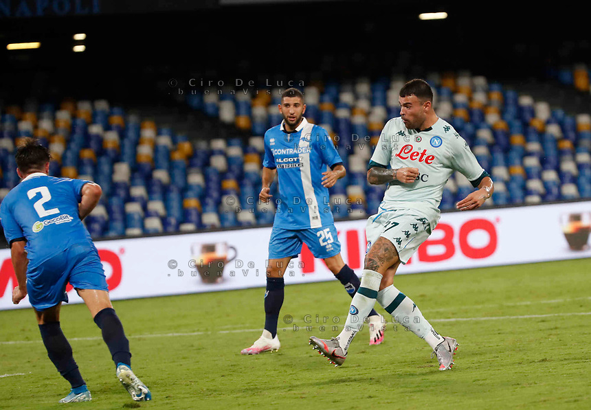 Andrea Petagnaduring a friendly match Napoli - Pescara  at Stadio San Paoli in Naples