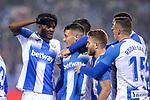CD Leganes's  Oscar Rodriguez Arnaiz, Youssef En-Nesyri, Chidozie Awaziem and Jose Luis Garcia Recio during La Liga match 2019/2020 round 16<br /> December 8, 2019. <br /> (ALTERPHOTOS/David Jar)
