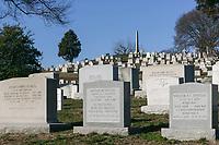 Grave stones in Arlington National Cemetery, Arlington, Virginia