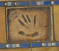 Hand print of the film star, Whoopi Goldberg, outside the Palais des Festivals et des Congres, Cannes, France.