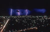 Lightining storm over Manila, Philippines