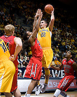 Harper Kamp of California shoots the ball during the game against Arizona at Haas Pavilion in Berkeley, California on February 2nd, 2012.  Arizona defeated California, 78-74.