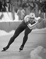 Gaetan Boucher won three medals at the '84 Sarajevo Olympic<br /> <br /> Photo : Boris Spremo - Toronto Star archives - AQP