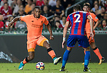 Liverpool FC forward Daniel Sturridge (L) fights for the ball with Crystal Palace defender Joel Ward  (R) during the Premier League Asia Trophy match between Liverpool FC and Crystal Palace FC at Hong Kong Stadium on 19 July 2017, in Hong Kong, China. Photo by Yu Chun Christopher Wong / Power Sport Images