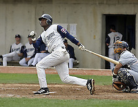 April 21, 2004:  Ramos Peeter of the Fort Wayne Wizards, Midwest League (Low-A) affiliate of the San Diego Padres, during a game at Memorial Stadium in Fort Wayne, IN.  Photo by:  Mike Janes/Four Seam Images