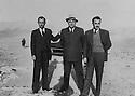 Iran 1952 <br />From left to right, Ali Ashraf Sanandadji, Mohieddine Rahimzadeh and Ali Reza Sanandadji  <br />Iran 1952 <br />De gauche a droite, Ali Ashraf Sanandadji, Mohieddine Rahimzadeh et Ali Reza Sanandadji