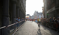 Chris Froome (GBR/SKY) off to the start<br /> <br /> Post-Tour Criterium Mechelen 2015