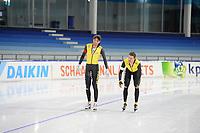 SCHAATSEN: HEERENVEEN: 06-10-2018, IJsstadion Thialf, NK CLUBS, Sven Kramer, Patrick Roest, ©foto Martin de Jong