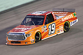 HOMESTEAD, FLORIDA - JUNE 13: Derek Kraus, driver of the #19 ENEOS/NAPA FILTERS Toyota, races during the NASCAR Gander RV & Outdoors Truck Series Baptist Health 200 at Homestead-Miami Speedway on June 13, 2020 in Homestead, Florida. (Photo by Chris Graythen/Getty Images)