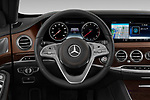 Car pictures of steering wheel view of a 2019 Mercedes Benz S-Class - 4 Door Sedan Steering Wheel