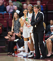 Stanford, CA - January 24, 2020: Tara VanDerveer at Maples Pavilion. The Stanford Cardinal defeated the Colorado Buffaloes in overtime, 76-68.