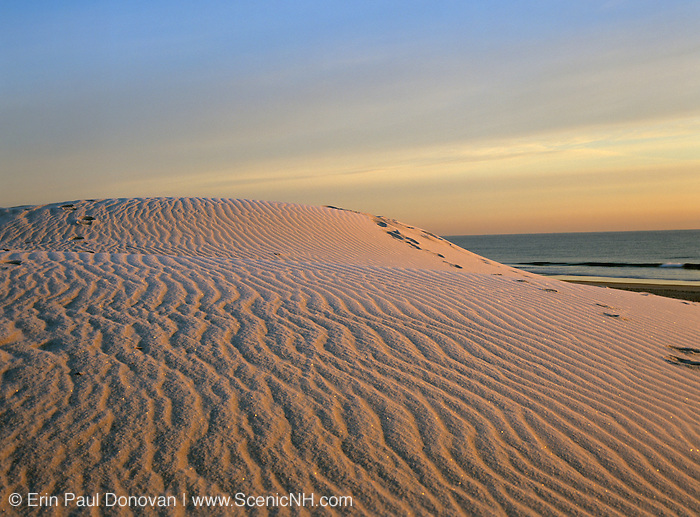 Hampton Beach, New Hampshire USA, which is part of the New England seacoast.