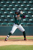 Rodolfo Castro (7) of the Greensboro Grasshoppers at bat against the Hickory Crawdads at L.P. Frans Stadium on May 26, 2019 in Hickory, North Carolina. The Crawdads defeated the Grasshoppers 10-8. (Brian Westerholt/Four Seam Images)
