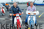 John O'Regan (Tralee) and Francie Ashe from Boolteens with their Honda 50's at the West Kerry Honda 50 and Classic Bike Run in aid of the Kerry Hospice in Blennerville on Sunday.
