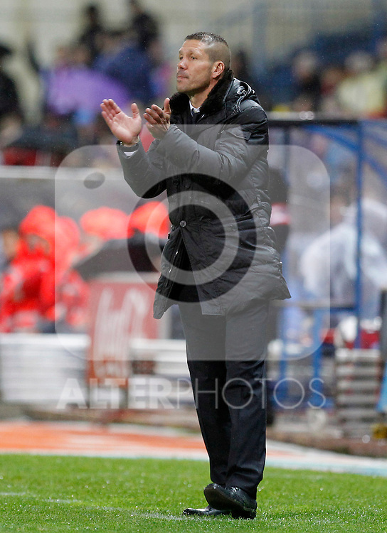 Madrid (05/05/2012).- Estadio Vicente Calderon..Liga BBVA.Atletico de madrid - Malaga Club de Futbol..Diego Simeone...Photo: Alex Cid-Fuentes / ALFAQUI..