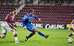 Hearts v St Johnstone....11.01.11  Scottish Cup.Peter MacDonald scores the only goal of the game.Picture by Graeme Hart..Copyright Perthshire Picture Agency.Tel: 01738 623350  Mobile: 07990 594431
