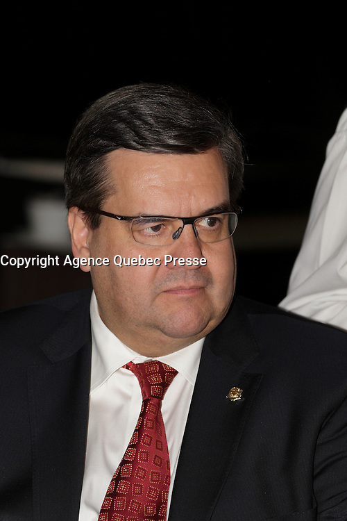 Montreal Mayor Denis Coderre<br />  attend the Canadian Club of Montreal, Monday, February 8, 2016.<br /> <br /> MANDATORY CREDIT <br /> PHOTO : Pierre Roussel - Agence Quebec Presse