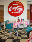 Chappell Hill Cafe, TX. Classic americana dining area.