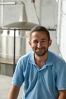 ALBANIA, Shkodra, farming of herbal and medical plants, essential oil distillery of Agro-Map/ ALBANIEN, Shkoder, Anbau von Heil- und Gewuerzpflanzen, Kraeuteroel Destille der Firma Agro-Map, Farmer Ilir Gjolaj