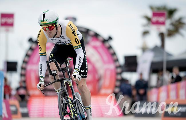 Australian TT Champion Luke Durbridge (AUS/Mitchelton-Scott) off the start ramp<br /> <br /> Stage 9 (ITT): Riccione to San Marino (34.7km)<br /> 102nd Giro d'Italia 2019<br /> <br /> ©kramon