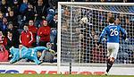 Lee Robinson beaten for Hibs second goal