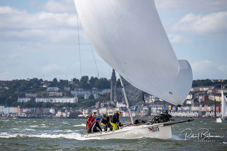 Racing at the 1720 National Championships in Cork Harbour. Pictured is third placed Ross McDonald in Atara from Howth Yacht Club