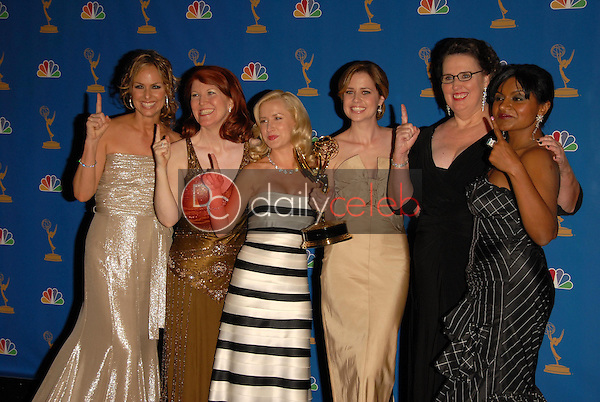 """the Cast of """"The Office""""<br />in the Press Room at the 58th Annual Primetime Emmy Awards. The Shrine Auditorium, Los Angeles, CA. 08-27-06<br />Scott Kirkland/DailyCeleb.com 818-249-4998"""