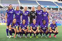 Orlando, Florida - Sunday, May 14, 2016: Orlando Pride starting XI during a National Women's Soccer League match between Orlando Pride and New York Flash at Camping World Stadium.