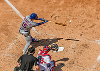 30 April 2017: New York Mets shortstop Matt Reynolds singles in the 4th inning against the Washington Nationals at Nationals Park in Washington, DC. The Nationals defeated the Mets 23-5 in the third game of their weekend series. Mandatory Credit: Ed Wolfstein Photo *** RAW (NEF) Image File Available ***