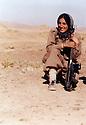 Iran 1981  In Khalifan, Soheila Ghassemlou, peshmerga of Fedayin Khalk party<br /> Iran 1981  Soheila Ghassemlou, femme peshmerga du parti du Peuple a Khalifan