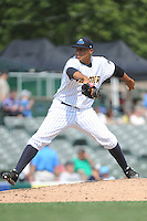 Trenton Thunder pitcher Cesar Cabral (53) during game against the Binghamton Mets at ARM & HAMMER Park on July 27, 2014 in Trenton, NJ.  Trenton defeated Binghamton 7-3.  (Tomasso DeRosa/Four Seam Images)