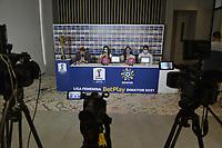 CALI - COLOMBIA, 11-09-2021: Rueda de prensa previo al encuentro entre Deportivo de Cali e Independiente Santa Fe por la final Vuelta como parte de la Liga Femenina BetPlay DIMAYOR 2021 a jugarse en la ciudad de Cali. / Press conference prior to the match between Deportivo de Cali and Independiente Santa Fe for the Vuelta final as part of the BetPlay DIMAYOR 2021 Women's League to be played in the city of Cali. Photo: VizzorImage / Gabriel Aponte / Staff