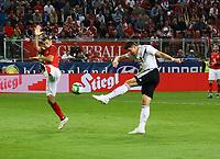 Mario Gomez (Deutschland Germany) zieht ab - 02.06.2018: Österreich vs. Deutschland, Wörthersee Stadion in Klagenfurt am Wörthersee, Freundschaftsspiel WM-Vorbereitung