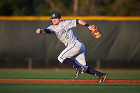 Georgetown Hoyas second baseman Jake Bernstein (10) during a game against the Chicago State Cougars on March 3, 2017 at North Charlotte Regional Park in Port Charlotte, Florida.  Georgetown defeated Chicago State 11-0.  (Mike Janes/Four Seam Images)