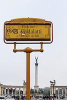 U-Bahn M1, Földalatti unter der Andrássy ut, Station Heldenplatz, Hösök tere, Budapest, Ungarn, UNESCO-Weltkulturerbe