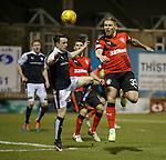 Martyn Waghorn flashes a header across goal