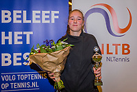Wateringen, The Netherlands, December 8,  2019, De Rhijenhof , NOJK juniors 14 and18 years, Finals 18 years: Runner up girls 18 years Anouk Koevermans (NED)<br /> Photo: www.tennisimages.com/Henk Koster