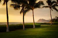Coastline at sunset. Ko Olina, Oahu, Hawaii