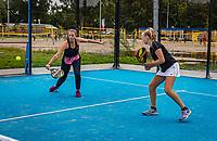 Netherlands, September 6,  2020, Amsterdam, Padel Dam, NK Padel, National  Junior Padel Championships, girls doubles<br /> Photo: Henk Koster/tennisimages.com