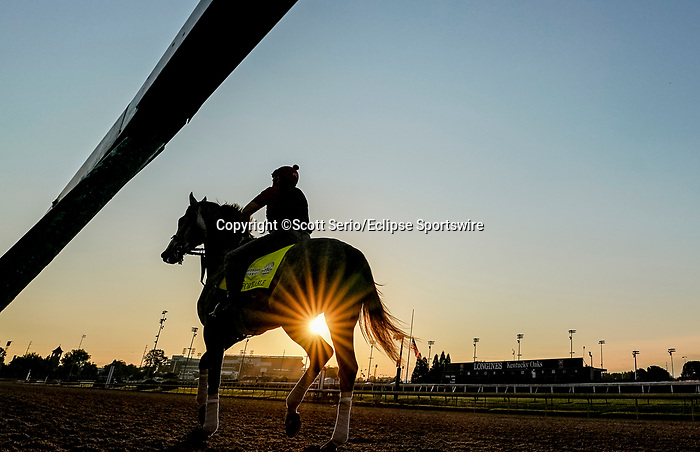 August 30, 2020: Enforceable walks on the main track as horses prepare for the 2020 Kentucky Derby and Kentucky Oaks at Churchill Downs in Louisville, Kentucky. The race is being run without fans due to the coronavirus pandemic that has gripped the world and nation for much of the year. Scott Serio/Eclipse Sportswire/CSM
