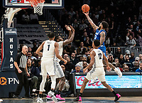 WASHINGTON, DC - FEBRUARY 05: Myles Powell #13 of Seton Hall lifts in a shot during a game between Seton Hall and Georgetown at Capital One Arena on February 05, 2020 in Washington, DC.