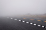 Foggy road in Sherman County on Highway 97.