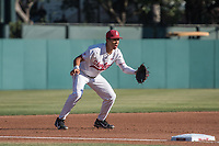STANFORD, CA - MAY 27: Drew Bowser during a game between Oregon State University and Stanford Baseball at Sunken Diamond on May 27, 2021 in Stanford, California.
